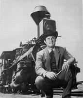 James West og det spesialbygde toget han og Gordon brukte