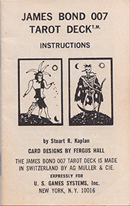 James Bond 007 Tarot Game Instructions