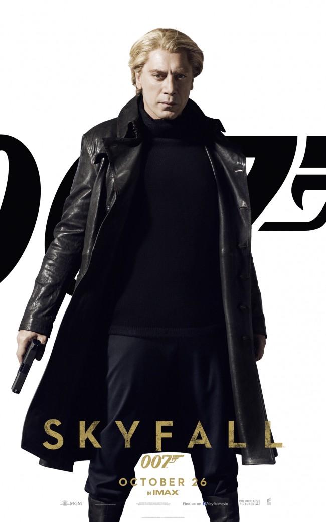 Poster for Skyfall som viser Raoul Silva