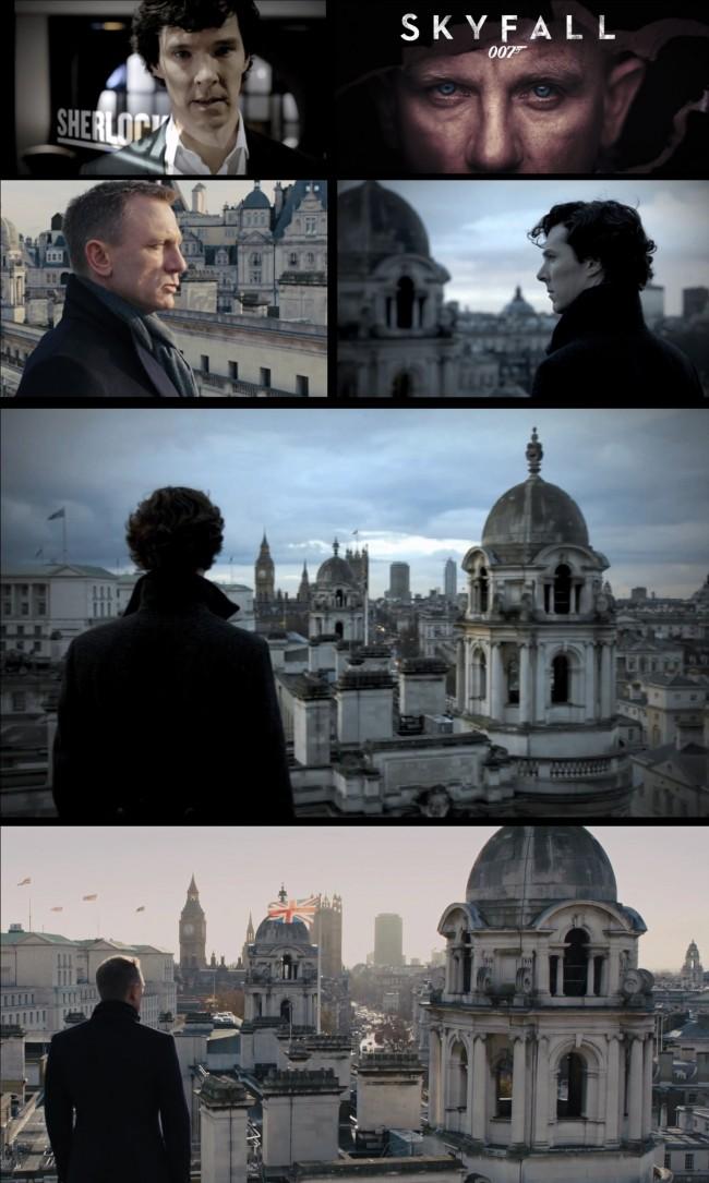 Sherlock på taket til James Bond